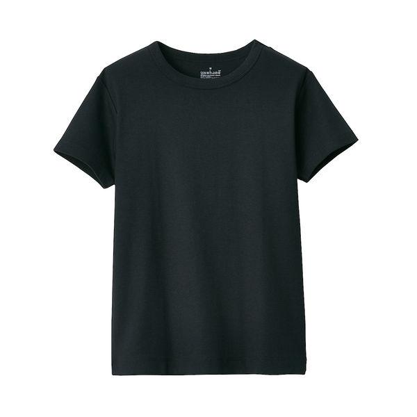 無印 汗じみしにくい半袖Tシャツ 婦人L