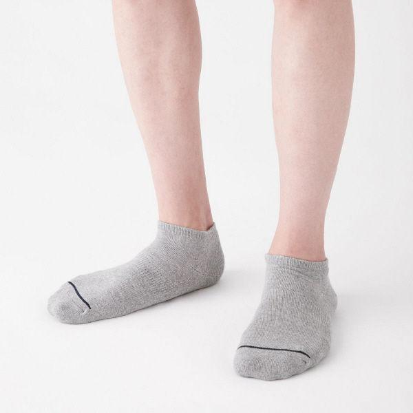 無印 足底パイルスニーカーイン靴下 3足