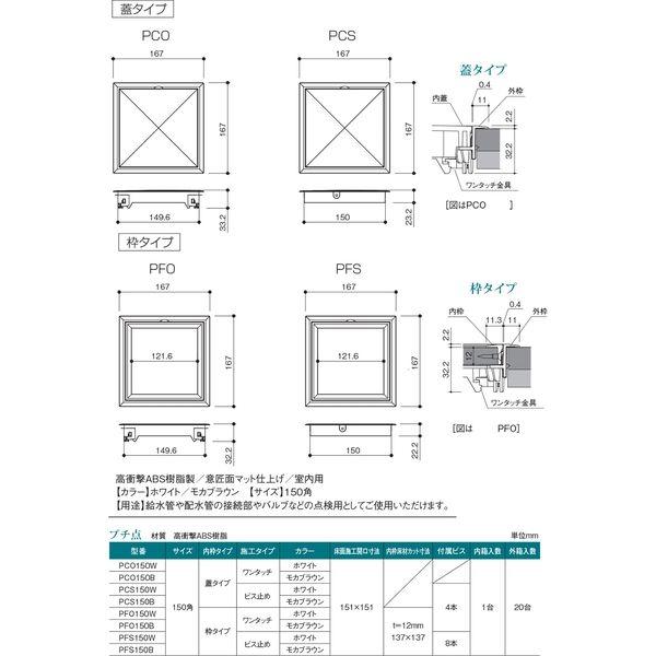 プチ点 枠タイプ ビス止め式 PFS150B(直送品)