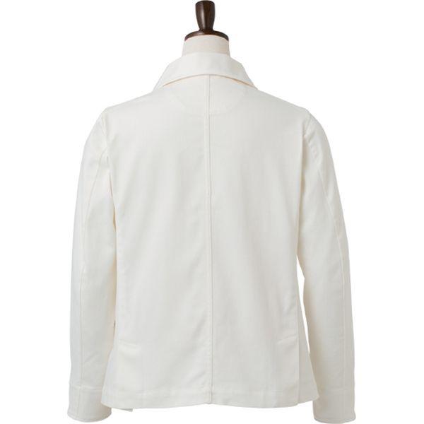 【飲食店向けユニフォーム】kitemasu(キテマス) 男性ストレッチコックジャケット LL ホワイト KMJ2770 1枚(直送品)