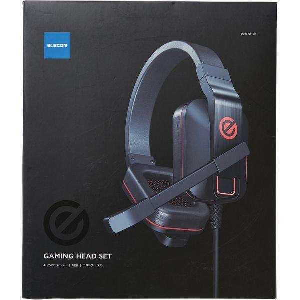 ゲーミングヘッドセット/両耳オーバーヘッド/4極ミニプラグ/40mmドライバ/極厚イヤーパッド/コントローラ付属/ブラック(直送品)