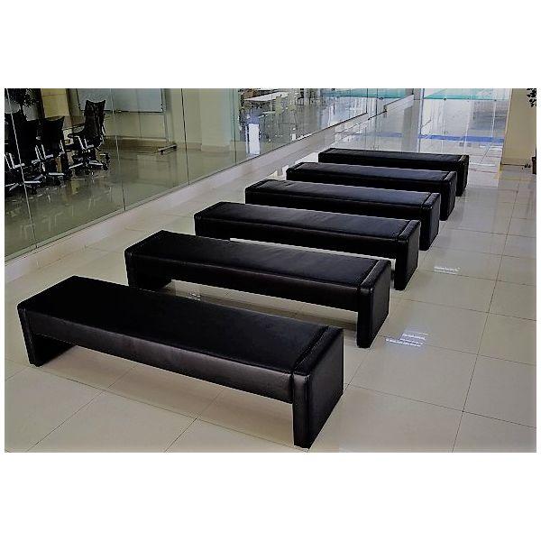 URBAN(アーバン) デザインスツール127 幅1280mm ブラック S-3420-127BK 1台(直送品)