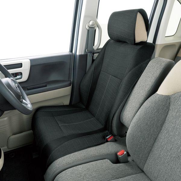 【カー用品】ボンフォーム メンズデオ シートカバー 前席用 BON-4027-50BK 1個(直送品)