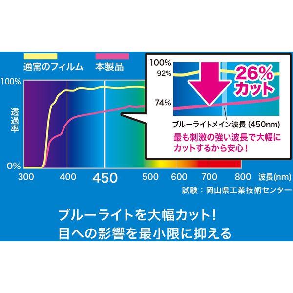 サンワサプライ MacBook Air 13.3インチRetina(2018)用ブルーライトカット指紋防止光沢フィルム LCD-MBAR13BC(直送品)