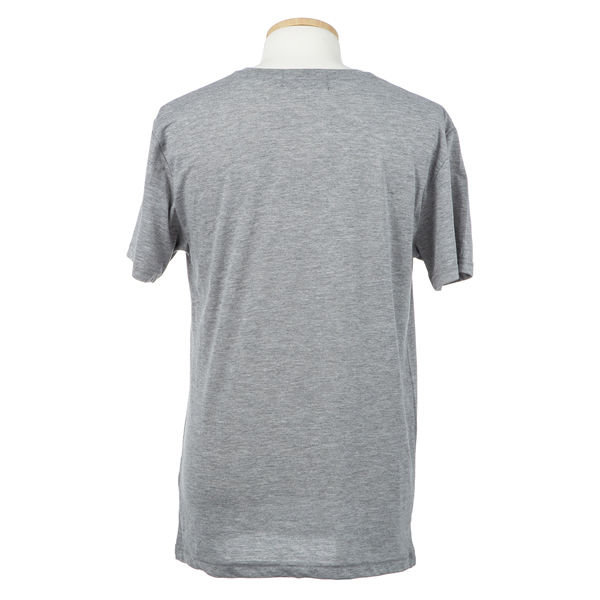 Lグレー 紳士VIP天竺半袖V首Tシャツ