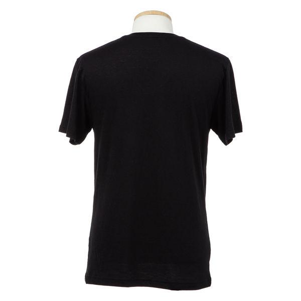 L 黒 紳士VIP天竺半袖V首Tシャツ