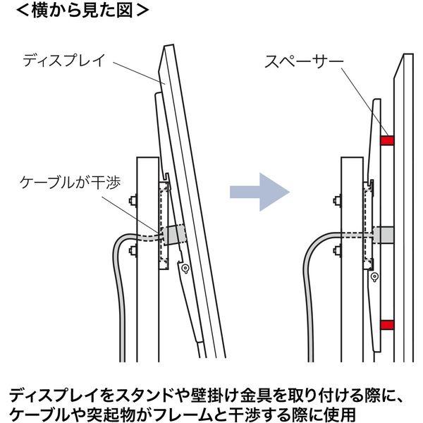 サンワサプライ ディスプレイ取付け用スペーサー、ボルトセット CR-PLS1 1台(直送品)