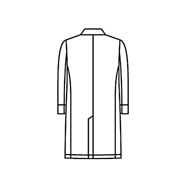 KAZEN メンズ診察衣 医療白衣 長袖 ホワイト シングル S KZN210-10 (直送品)