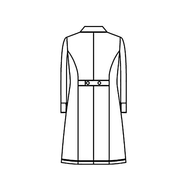 KAZEN レディス診察衣 医療白衣 長袖 ホワイト シングル L KZN129-40 (直送品)