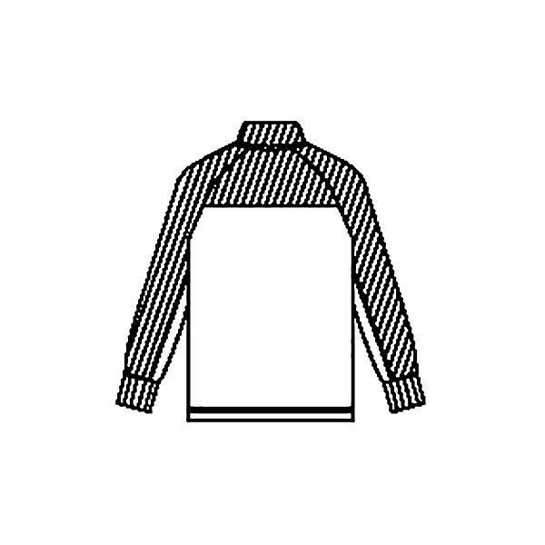 KAZEN ジャージジャケット 介護ユニフォーム 男女兼用 ネイビー×ピンク L ZN244-23 (直送品)