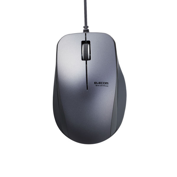 BlueLEDマウス 有線 静音3ボタン