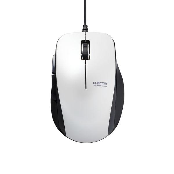 BlueLEDマウス 有線 静音5ボタン