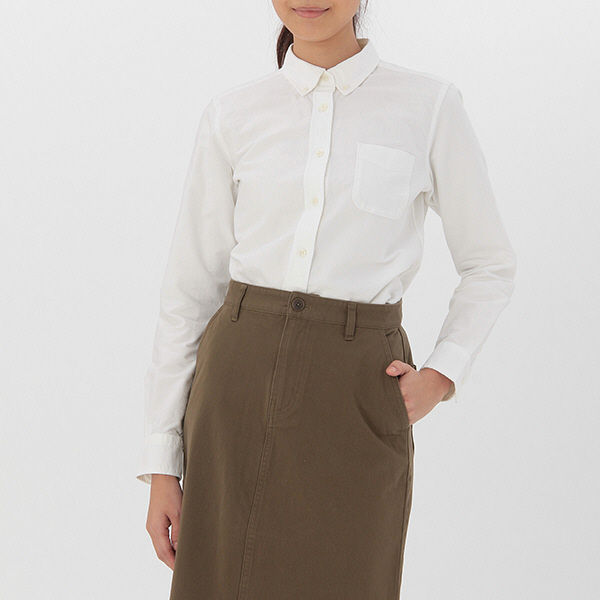 無印 オックスボタンダウンシャツ婦人 L