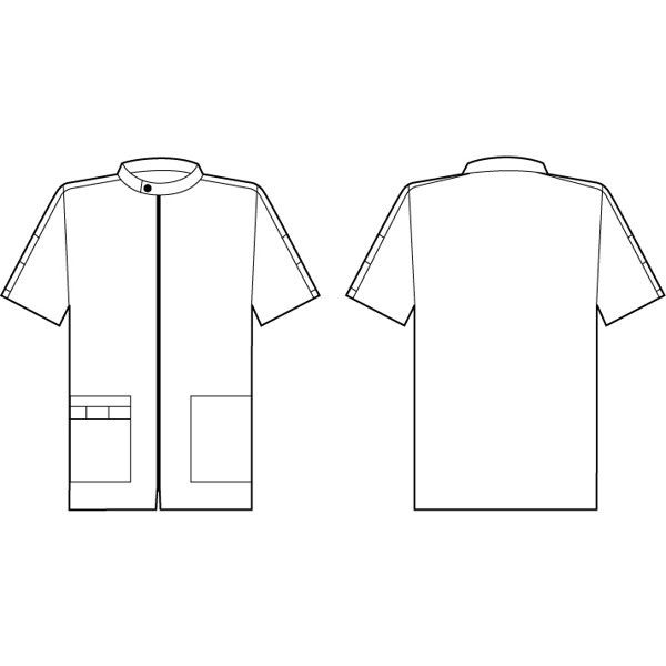 シロタコーポレーション メンズジャケット 3101 ブラック LL エステ サロンユニフォーム 1枚(直送品)