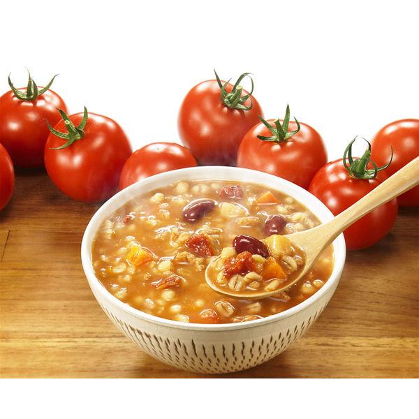 糖質想いの押し麦がゆ お豆と完熟トマト