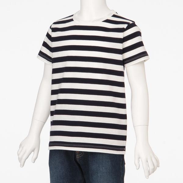 無印 しましま半袖Tシャツ キッズ140