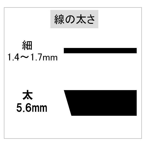 紙用マッキー 太/細 黒 3本