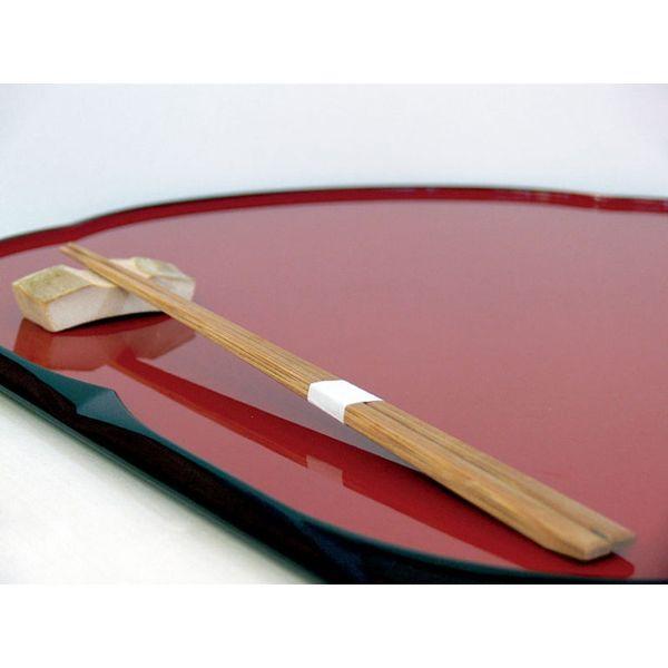 アステップ 最高級箸「持て成し箸」 竹一番 先細帯付燻 23.5cm 100膳/小箱 223(直送品)