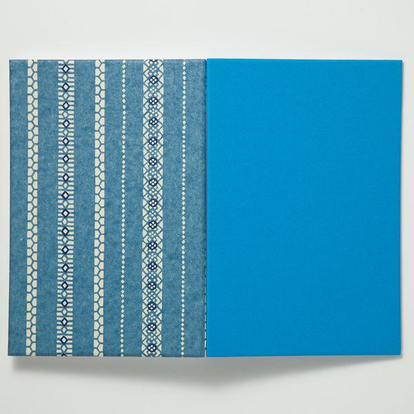 友禅朱印帳 goen ブルー B4