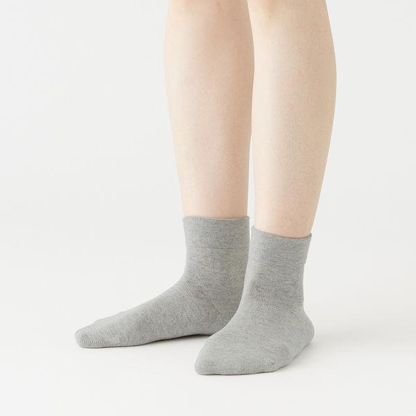 三層 リブなし ショート丈靴下 婦人