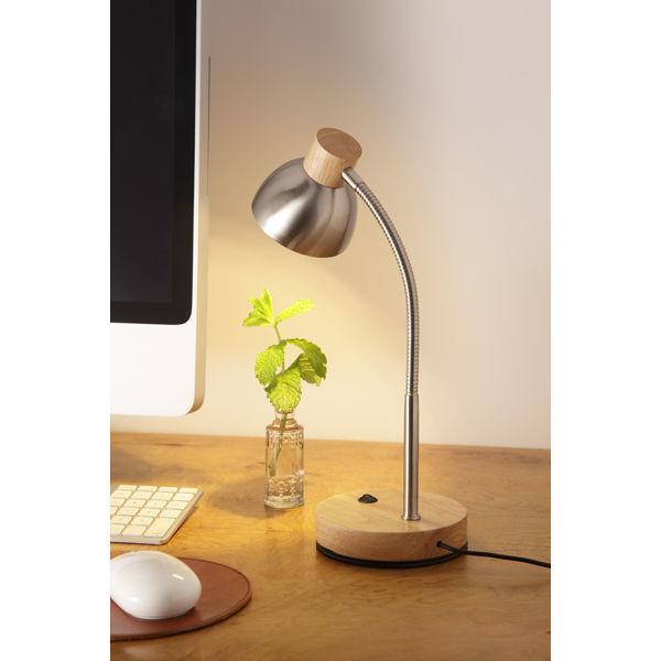 オリンピア照明 LEDテーブルランプ 白木ナチュラル GS1704CR(直送品)