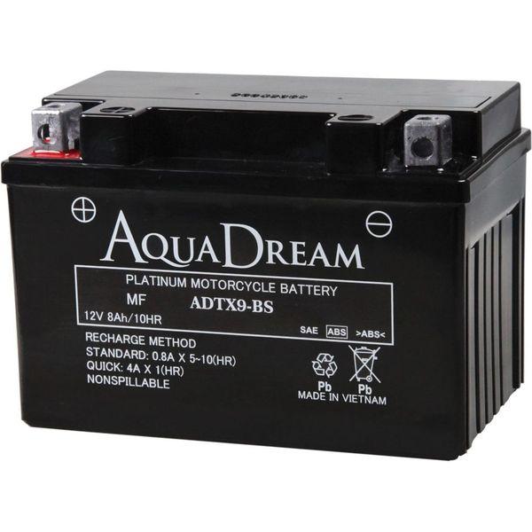 【バイク用品】AQUA DREAM(アクアドリーム) バイク用バッテリーシールド型MF ADTX9-BS 1個(直送品)