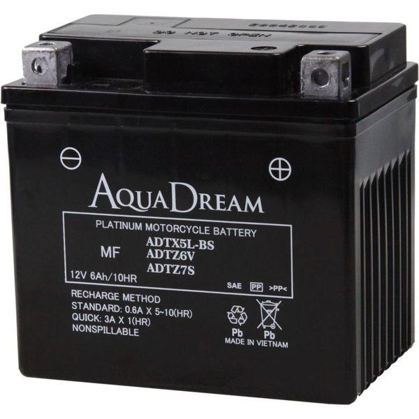 【バイク用品】AQUA DREAM(アクアドリーム) バイク用バッテリーシールド型MF ADTX5L-BS/ADTZ6V/ADTZ7S 1個(直送品)