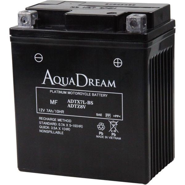 【バイク用品】AQUA DREAM(アクアドリーム) バイク用バッテリーシールド型MF ADTX7L-BS/ADTZ8V 1個(直送品)