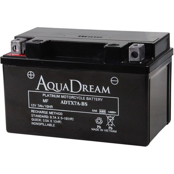 【バイク用品】AQUA DREAM(アクアドリーム) バイク用バッテリーシールド型MF ADTX7A-BS 1個(直送品)