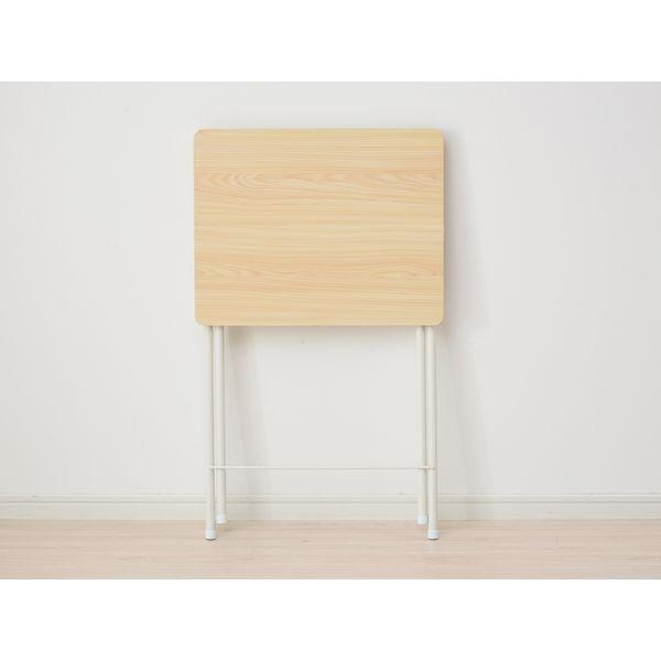 山善 YAMAZEN ミニテーブル ハイ 幅500×奥行480×高さ700mm ウッドナチュラル/ホワイト RYST-5040H(WN/WH) 1台(直送品)