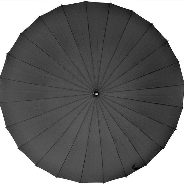 共栄工業 60cm 24本骨傘 黒 10091 1セット(6本)(直送品)