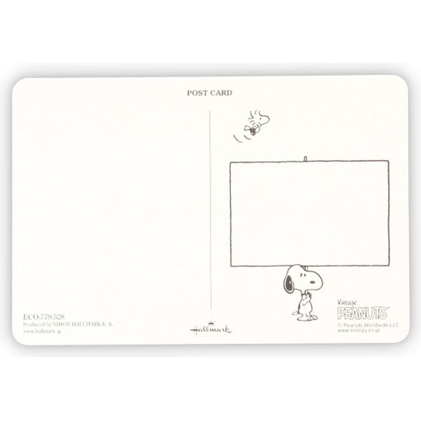 日本ホールマーク ポストカードスヌーピーフレーム 779528 6枚(直送品)
