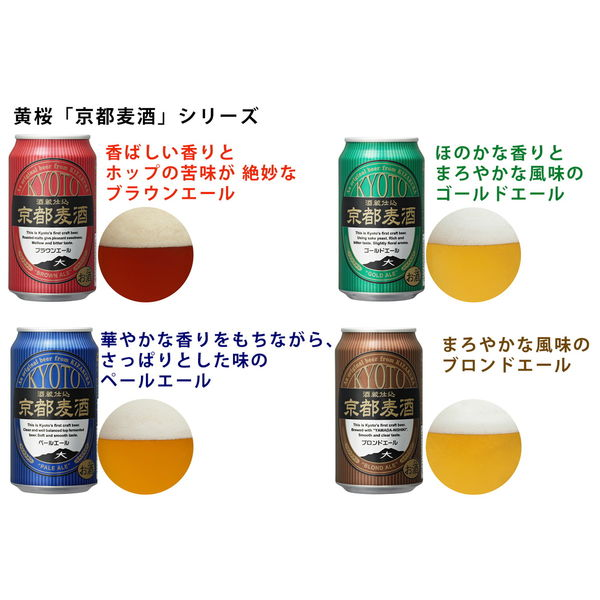 京都麦酒ゴールドエール 350ml×6本