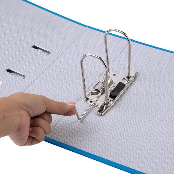レバー式アーチファイル A4タテ 背幅100mm 5冊 ブルー SGLAF100BL ハピラ とじ王