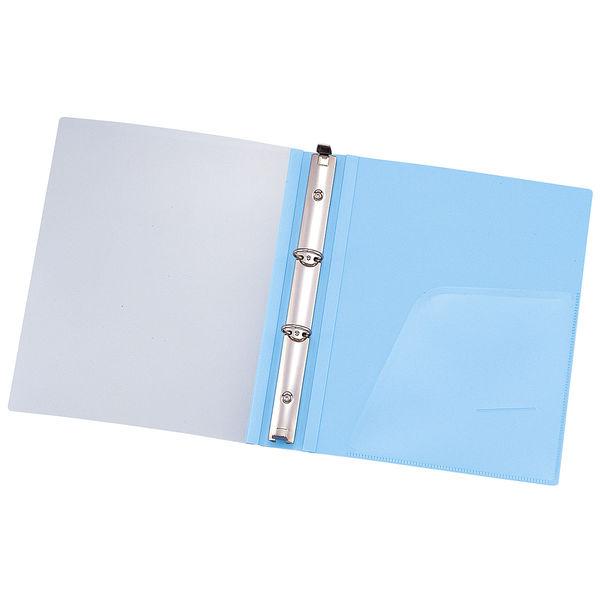 リヒトラブ メディカルサポートブック クリヤー ブルー 2穴 背幅41mm HB686-1 1箱(10冊入) (直送品)
