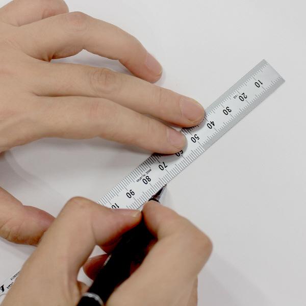 定規 ステンレス直尺 15cm