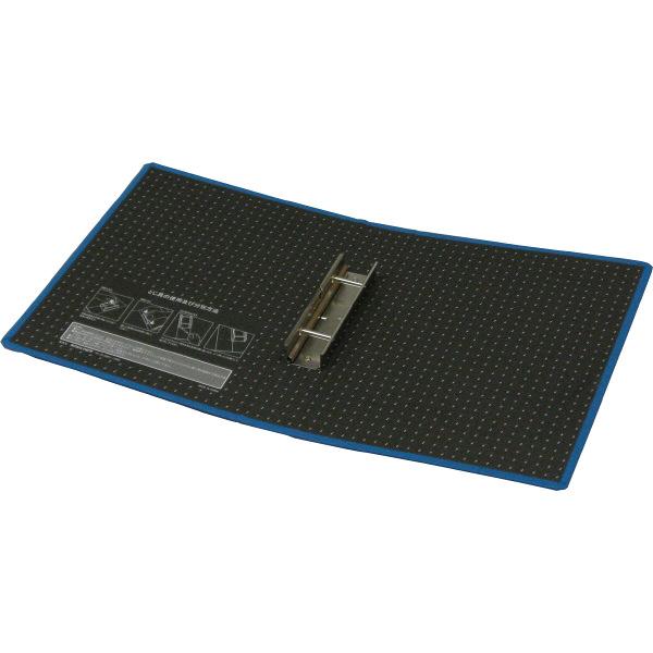 ハピラ 片開きパイプ式ファイル A4タテ とじ厚30mm ブルー 1箱(12冊入)