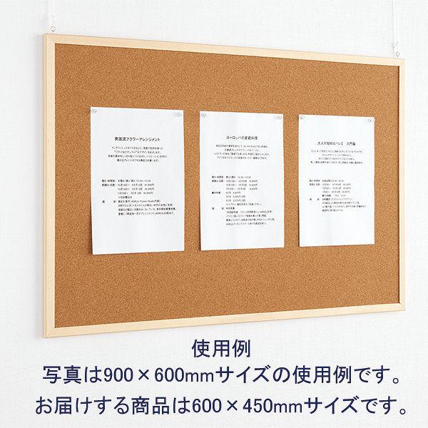 両面コルクボード M(600×450mm) WCB-6045 3枚 ナカバヤシ