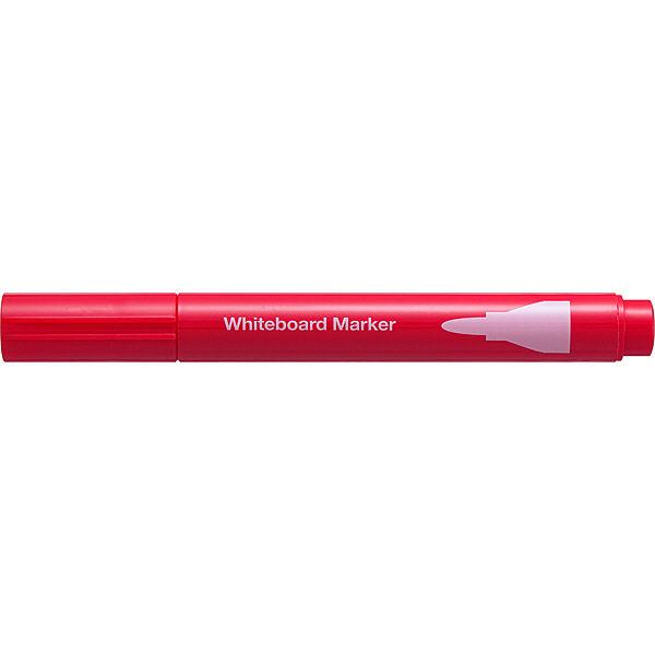 ホワイトボードマーカー 中字丸芯 赤5本