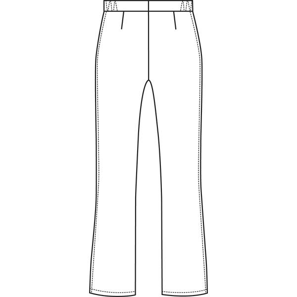 ルコックスポルティフ ナースパンツ セミブーツカットパンツ UQW2012 ホワイト L