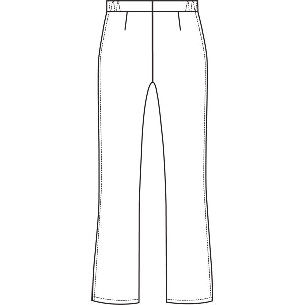 ルコックスポルティフ ナースパンツ セミブーツカットパンツ UQW2012 ブルー L