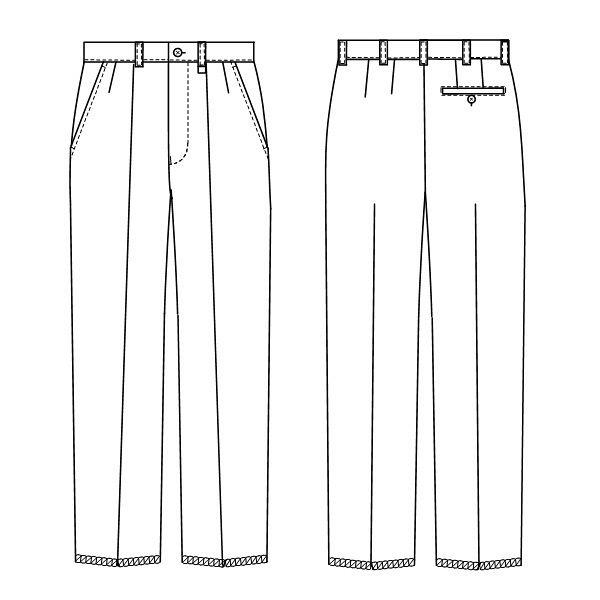 ナガイレーベン 男子スラックス KES-5163 ホワイト LL