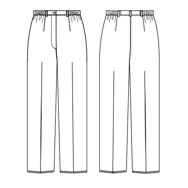 ナガイレーベン 女子パンツ ナースパンツ 医療白衣 ホワイト EL FE-4503 (取寄品)