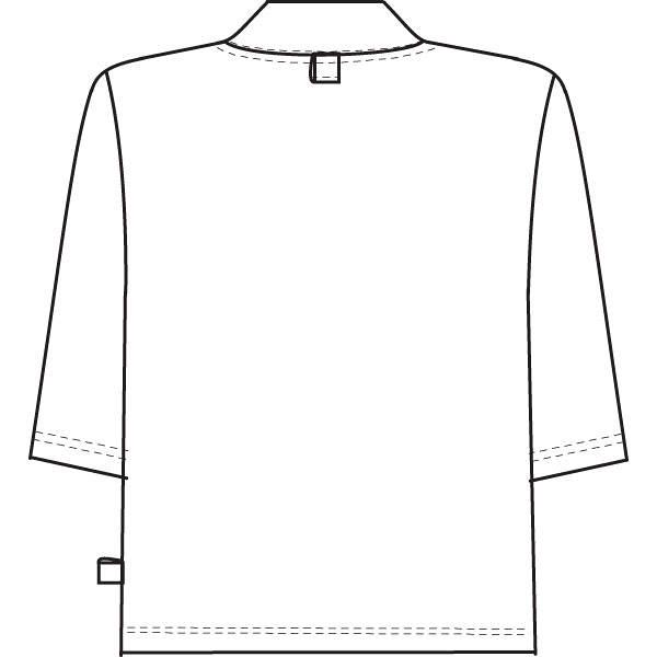ナガイレーベン 検診衣上衣 グレーM LK1436 (取寄品)