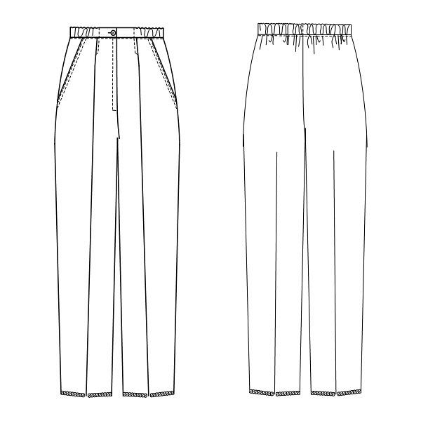 ナガイレーベン レディスパンツ ナースパンツ 医療白衣 ピンク EL CA-1723 (取寄品)