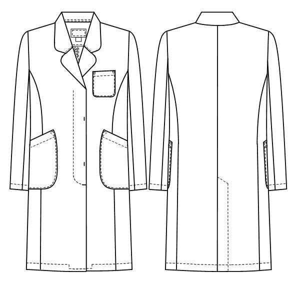 ナガイレーベン 女子シングル診察衣(ドクターコート ハーフ丈 シングル) EM3035 ピンク M (取寄品)