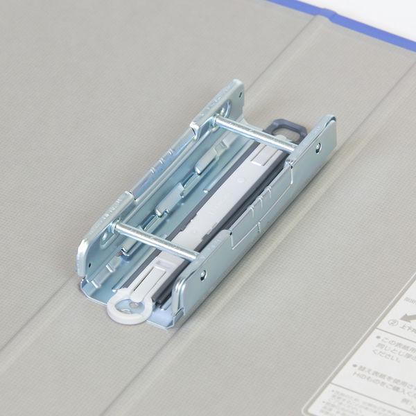 キングファイル スーパードッチ 脱着イージー A4ヨコ とじ厚40mm 青 3冊 キングジム 両開きパイプファイル 2484Aアオ
