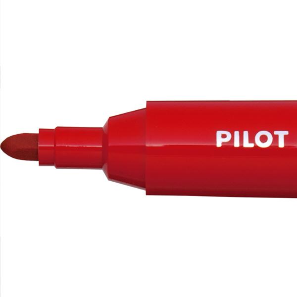 パイロット ホワイトボードマーカー 中字・大型 赤 WBMAR-12L 10本
