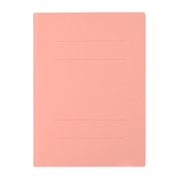 プラス フラットファイル(樹脂製とじ具) B4 タテ ピンク 2穴 No.011N 1箱(100冊:10冊入×10袋) (直送品)