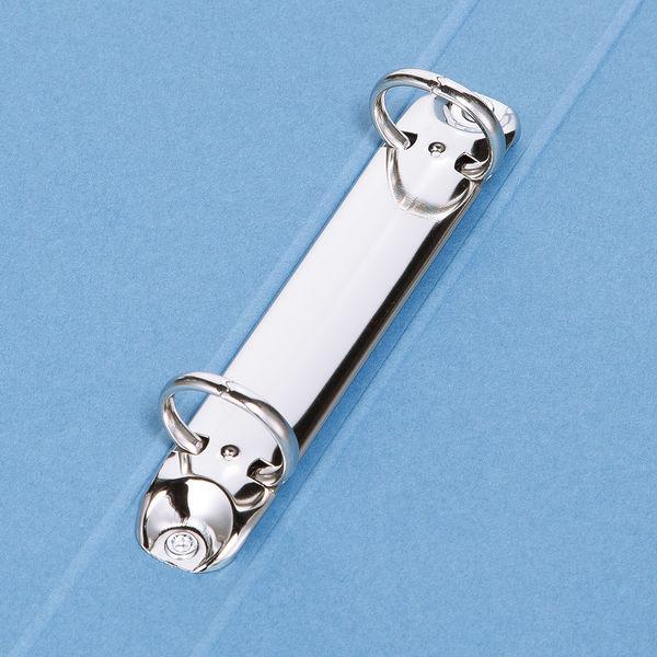 リングファイル 丸型2穴 A4タテ 背幅27mm 60冊 アスクル シブイロ ブルー